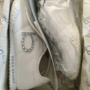 Bebe Sport Leather Girlfriend Tennis Shoes - 5M